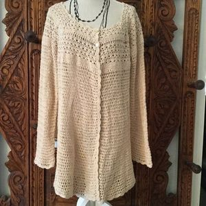 Sweaters - 🌸CROCHET CARDI $15+SHIPPING 🌸
